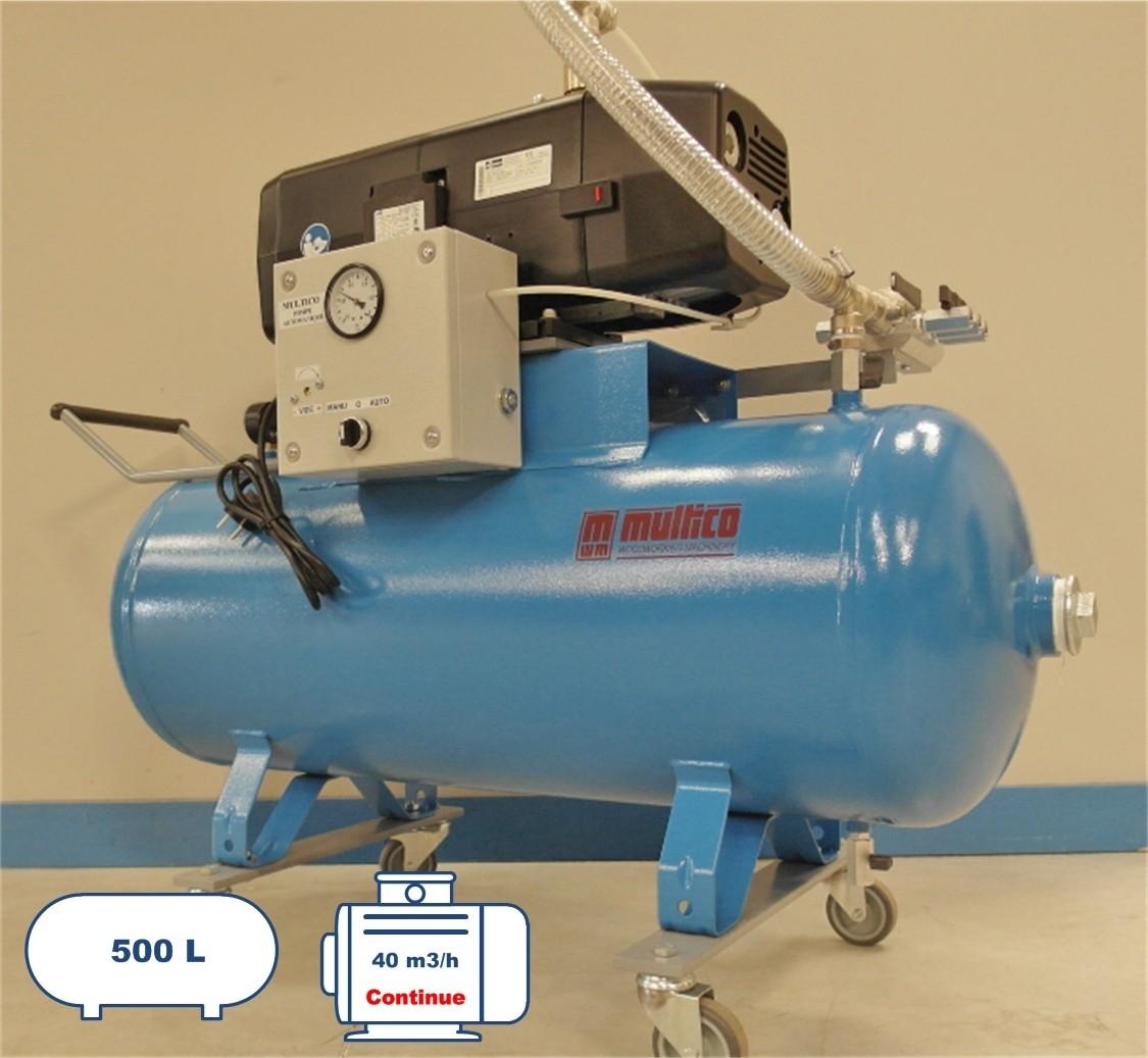 Groupe pompe à vide de 40 m3 500 litres