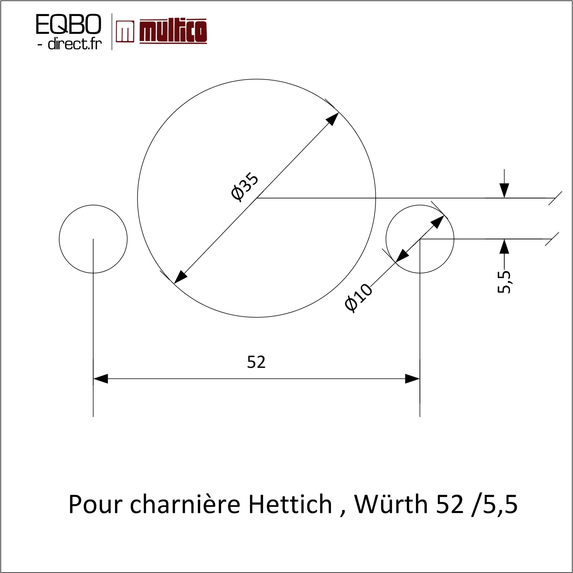 Perçage pour charniére Hettich