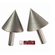 Jeu de 2 cônes diamantés pour affûtage du bédane maxi de 25 mm