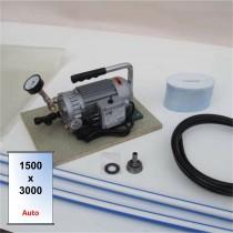 Presse souple pour collage sous vide Multico 3000 x 1500 mm avec boitier de coupure automatique