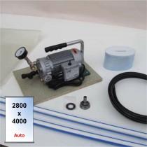 Presse souple pour collage sous vide Multico 4000 x 2800 mm avec boitier de coupure automatique