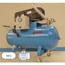 Groupe pompe à vide de 40 m3 avec une cuve de capacité de 100 litres - coupure automatique
