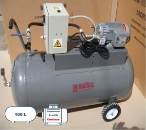 pompe à vide 8m3h cuve de 100 litres-1