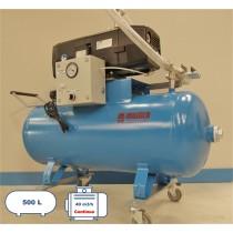 Groupe pompe à vide de 40 m3 avec une cuve de capacité de 500 litres